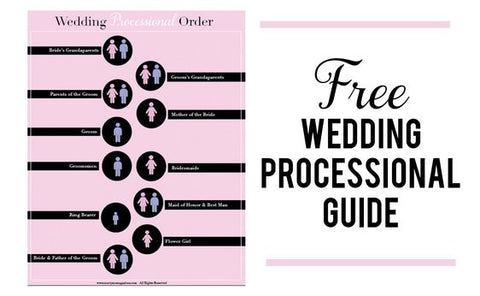 The Wedding Processional Order Guide Marry Me Magazines