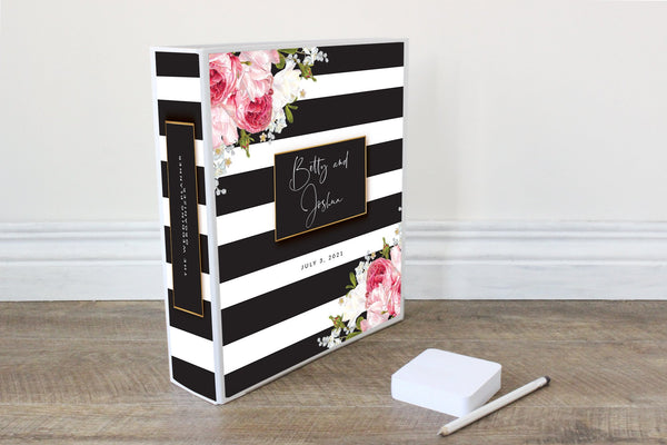 Wedding Planner Binder-black stripe