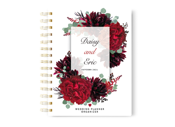 Red Floral Wedding Planner