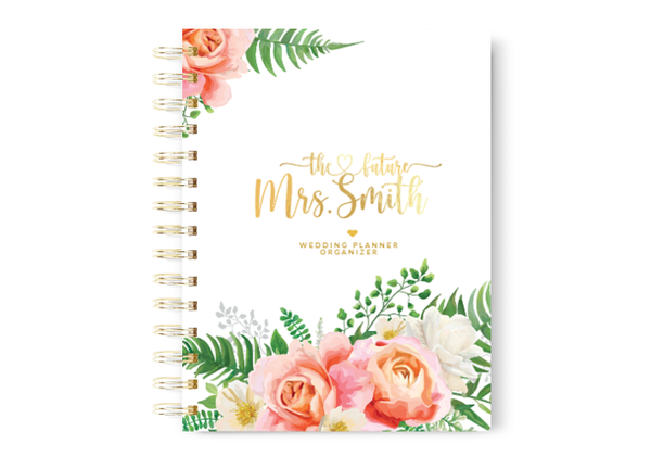 Peach Floral Wedding Planner