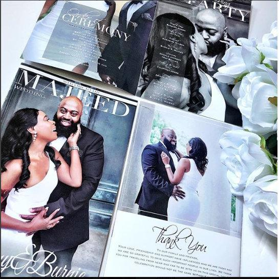 Wedding Magazine Programs Designed and Printed, Black and White, photo program, wedding magazine, ceremony program, photo booklet