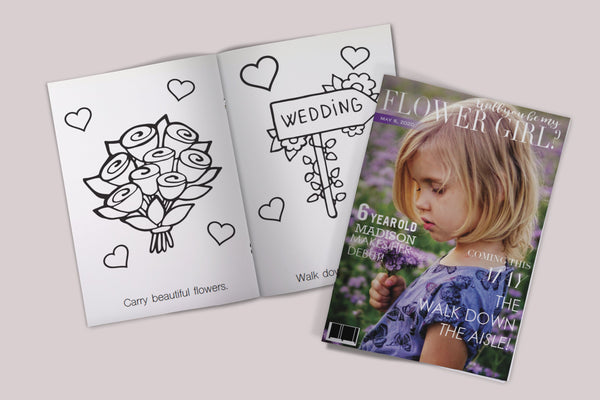Will You Be My Flower Girl Coloring Book, Flower Girl Gift, Flower Girl Proposal, Flower Girl Cute Gift