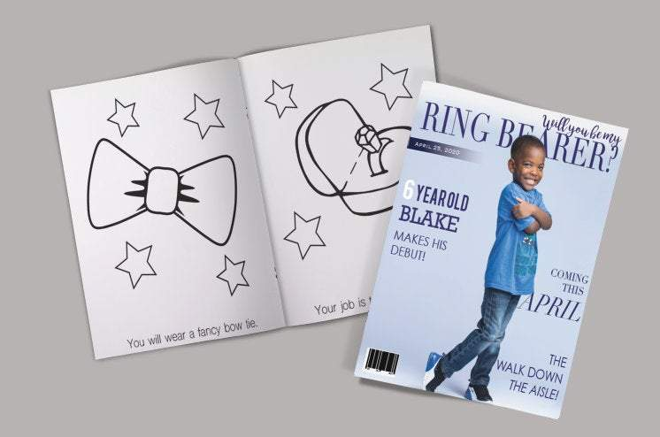 Will You Be My Ring Bearer Coloring Book, Ring Bearer, Ring Bearer Proposal, Ring Bearer Cute Gift