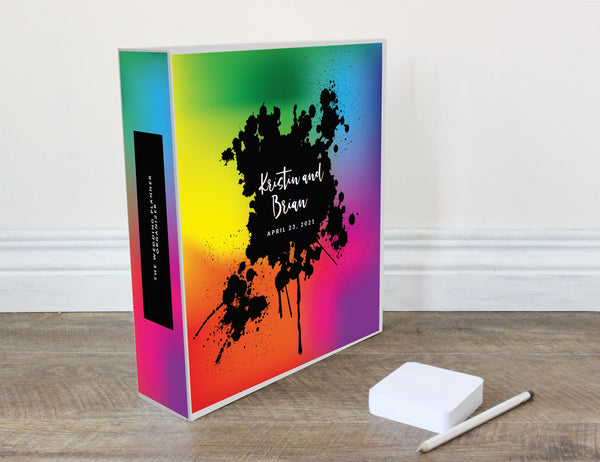 Tie Dye Wedding Planner, 200 PAGES- Wedding Plan Binder, Personalized Wedding Planner Book, Wedding Notebook, Engagement Gift,