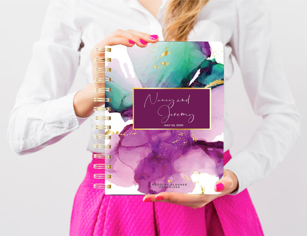 Wedding Planner Book, Custom Wedding Planner Book, 200 PAGES, Personalized Wedding Planner, Bridal Shower Gift, digital files, Watercolor