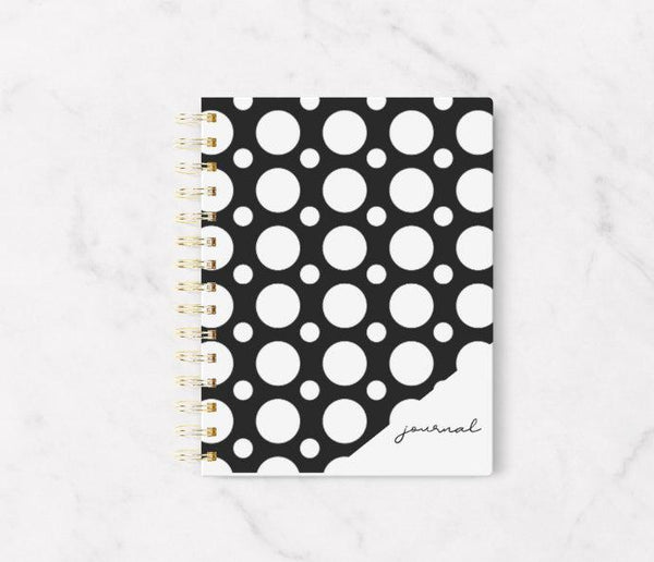 Black and White Dot Journal