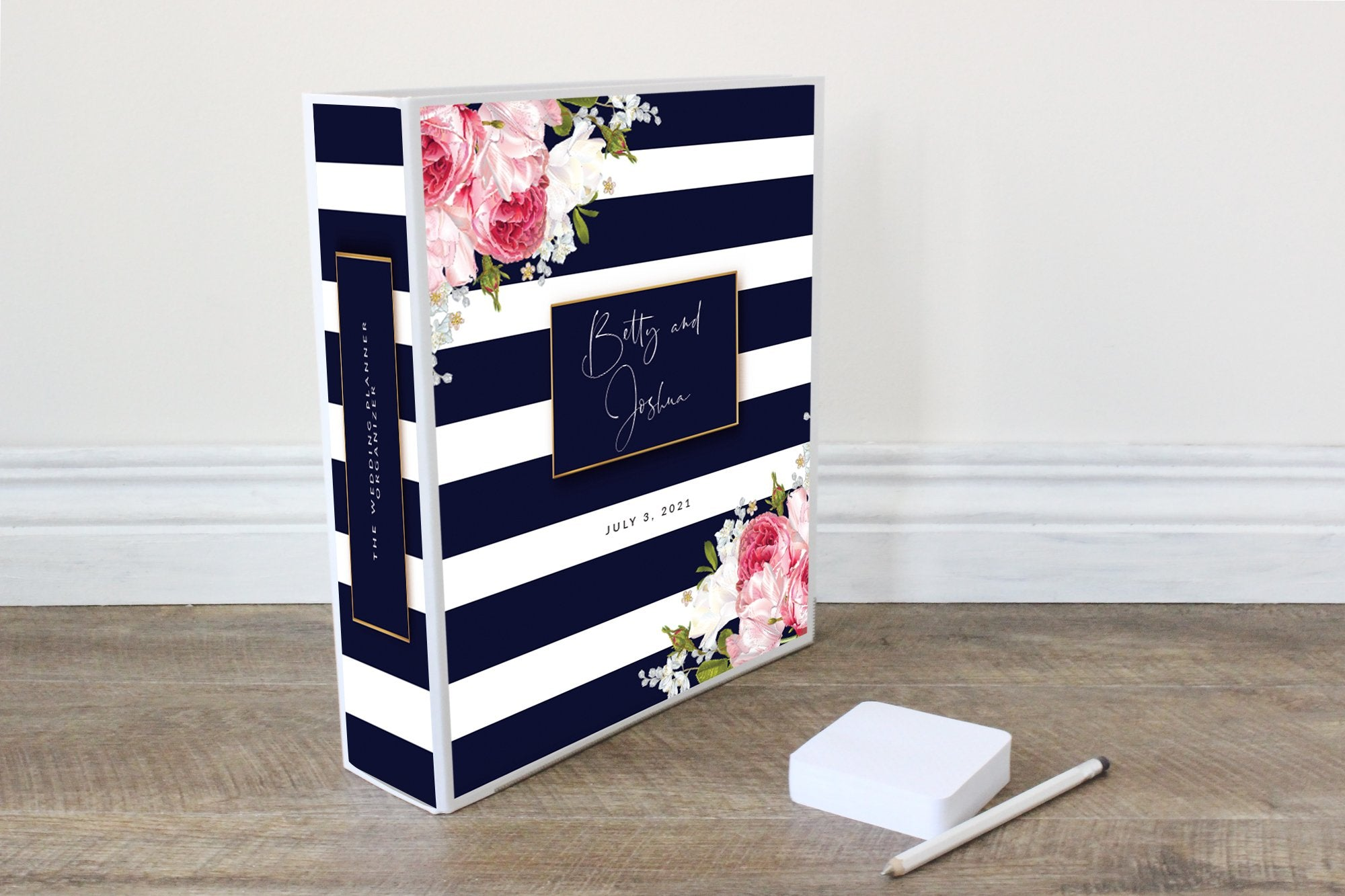 Wedding Planner Binder-Navy