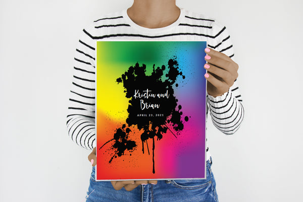 Tie Dye Wedding Planner