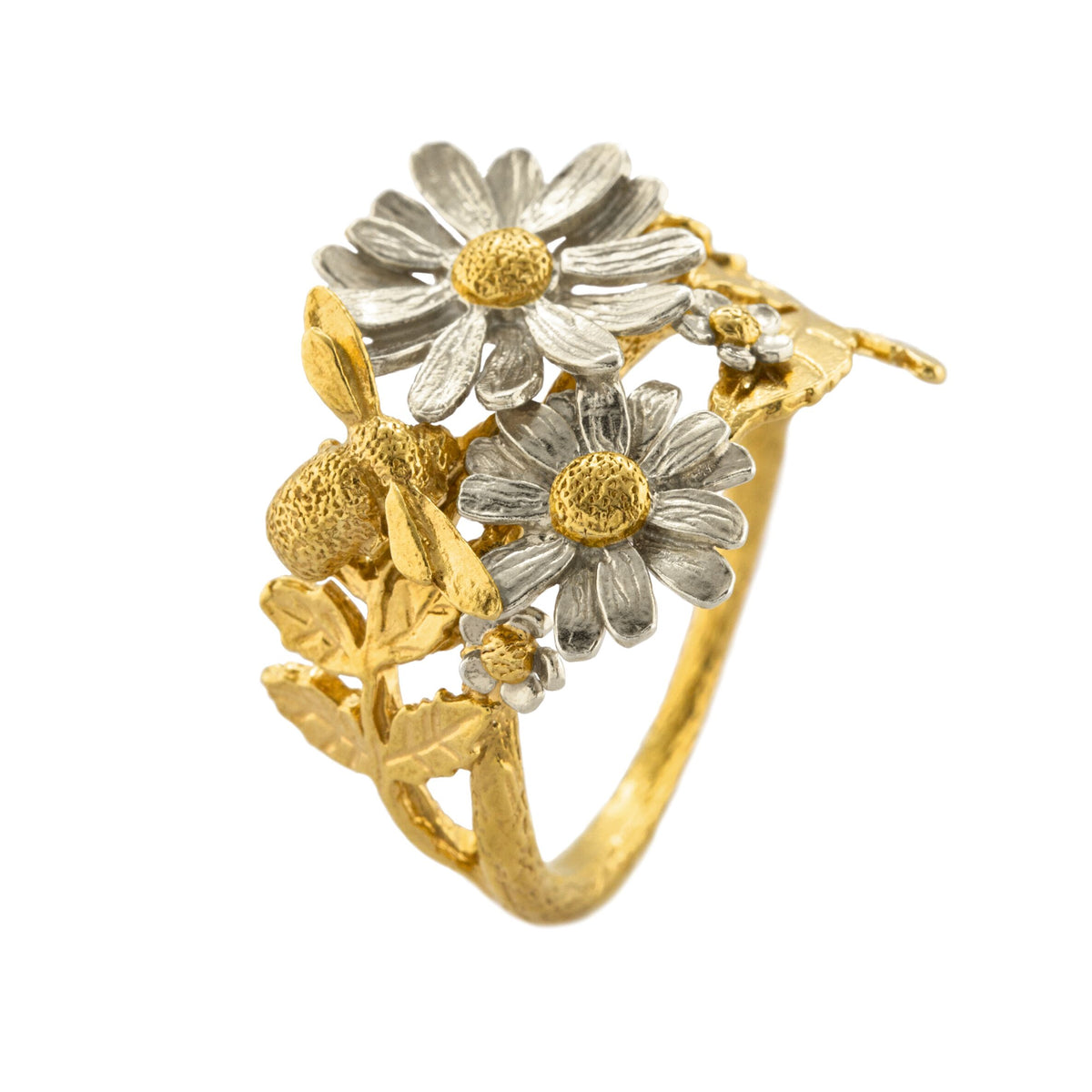 Spring Posy Bee Cluster Ring 6