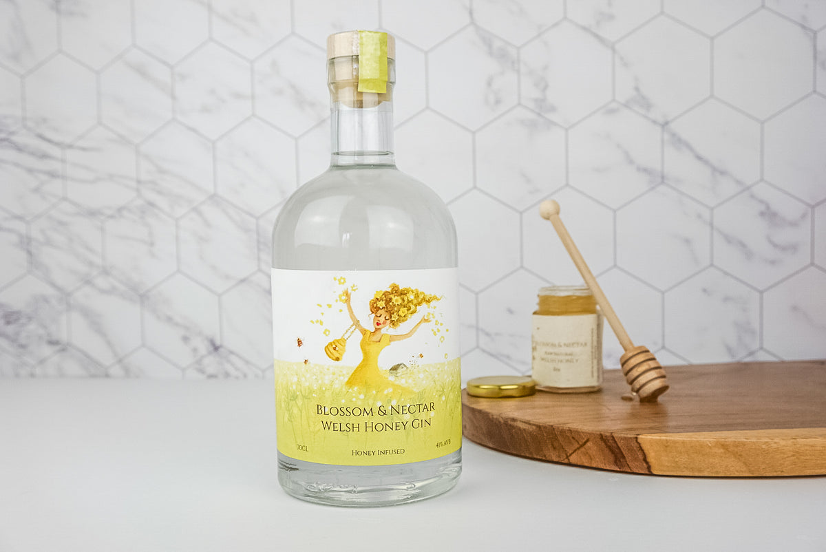 Blossom & Nectar Gin Honey Infused 10% Honey