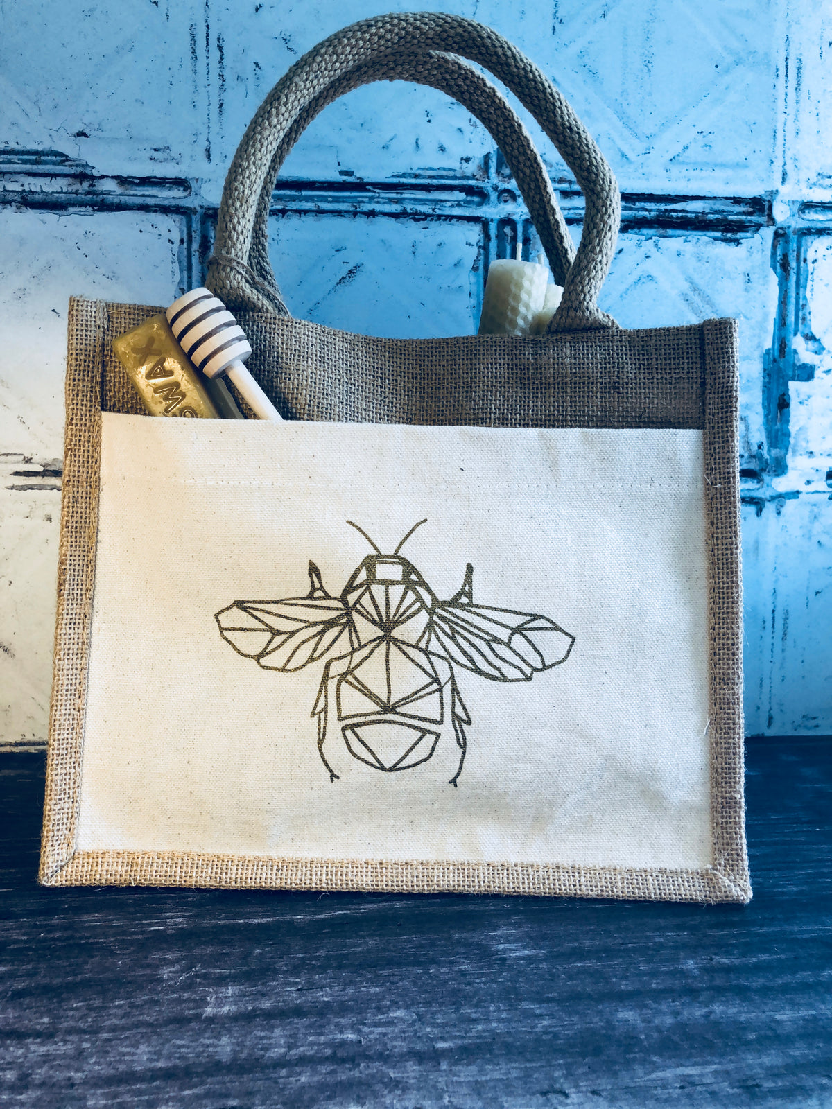 Wire Bee Tote Bag