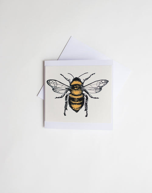 Honey Bee screen Print card