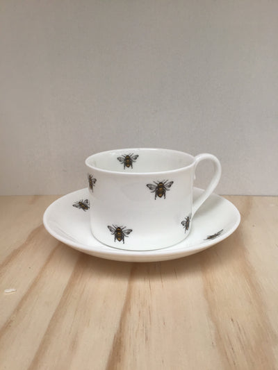 City hospice fine bone China cup and saucer