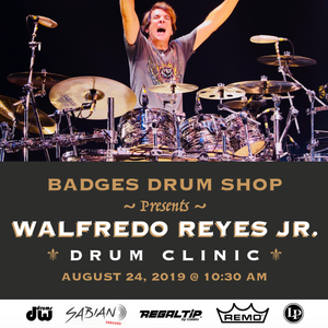WALFREDO REYES JR. Drum Clinic