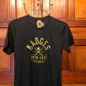 Badges Drum Shop T-Shirt - short sleeve