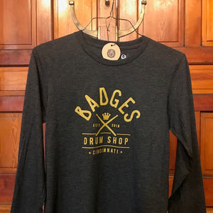 Badges Drum Shop T-Shirt - long sleeve