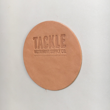 TACKLE Leather Bass Drum Beater Patch - Large