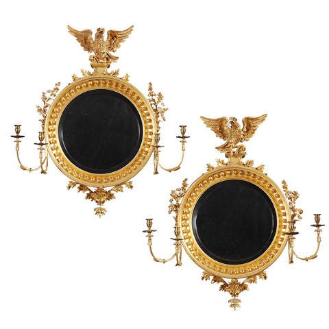A Pair of Regency Period Girandole Mirrors