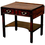 Antique English Mahogany architects table. view 1