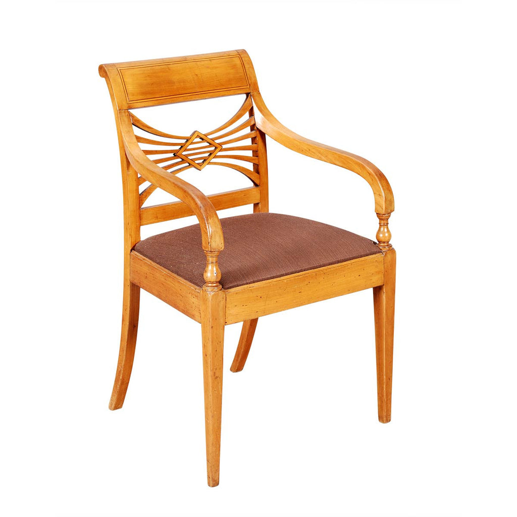 Neo-Classical Fruitwood Armchair