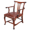Irish Carved Mahogany Armchair