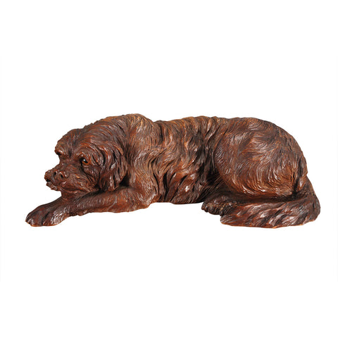 Carved Black Forest Dog