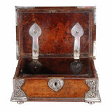 Small Burr Box with Silver Mounts