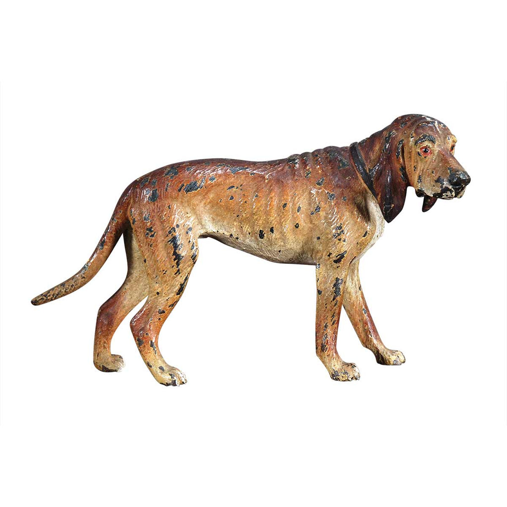 Miniature Bronze Hound Dog