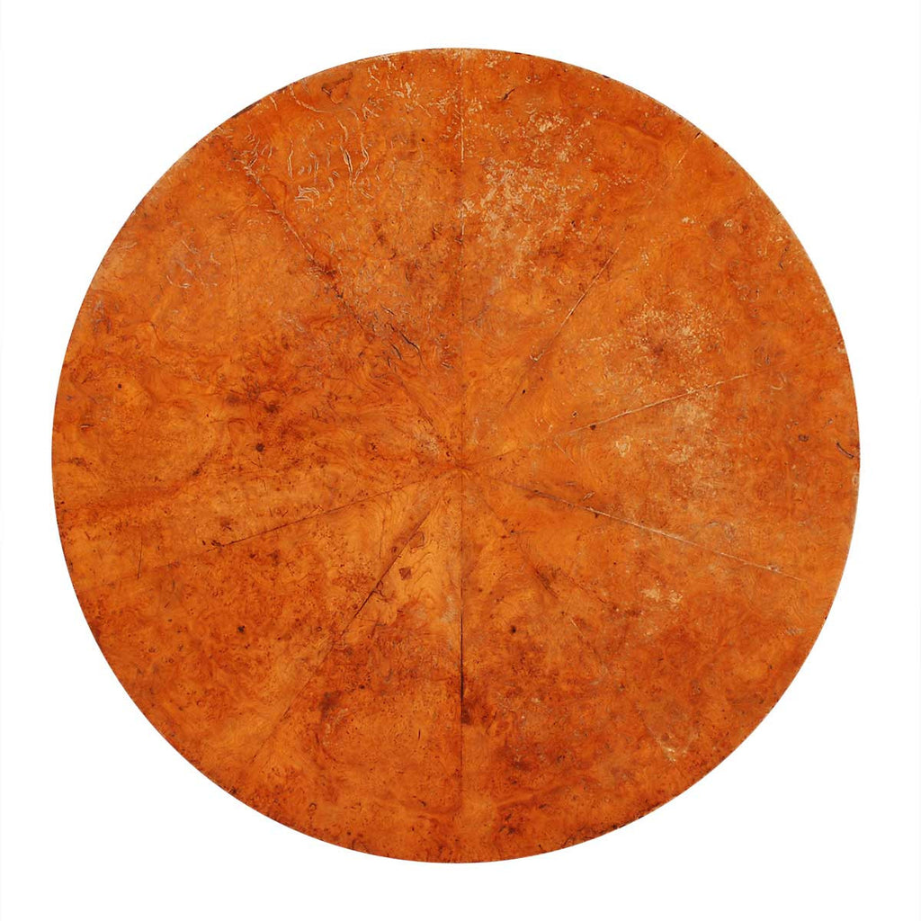 Radial-Veneered Burr Table Top