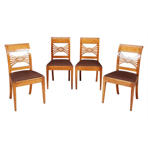 Set of Four Neo-Classical Fruitwood Side Chairs