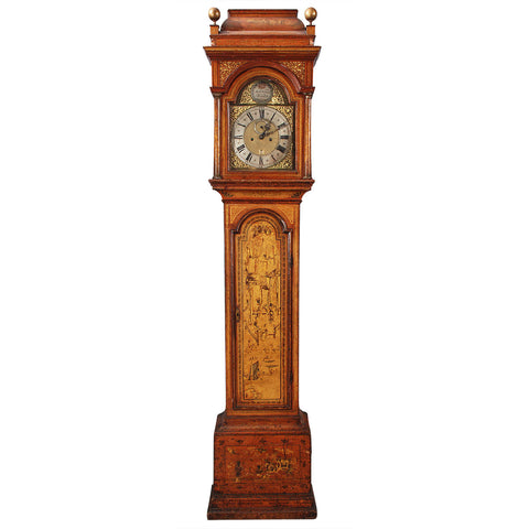Ochre Chinoiserie Tall Case Clock by James Norman