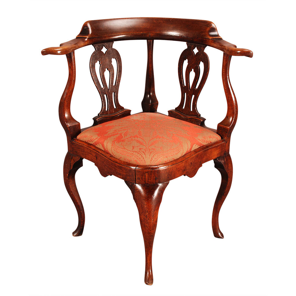 Fruitwood and Elm Corner Chair