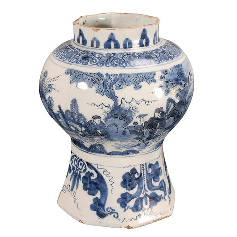 Small Delft Jar Lacking the Lid