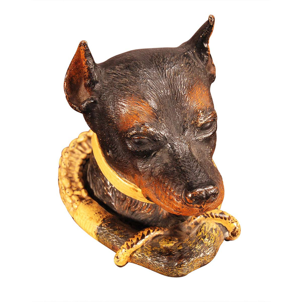 Bronze Dog Inkwell