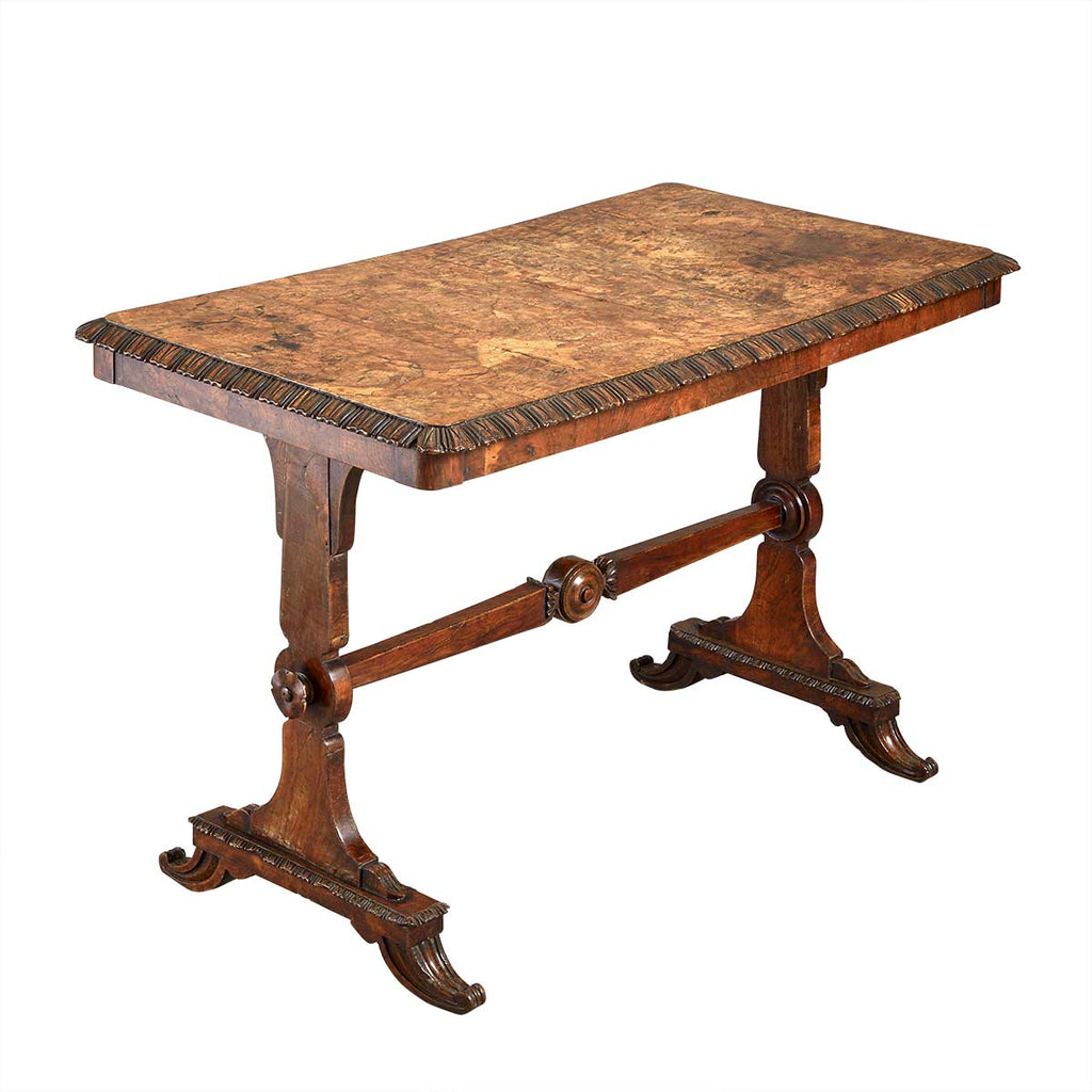 Small Burr Oak Writing Table