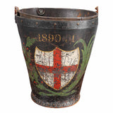 Leather Fire Bucket with St. George's Cross