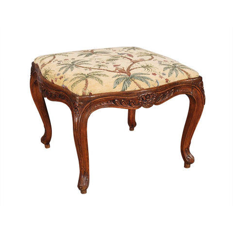 French Cabriole Leg Stool