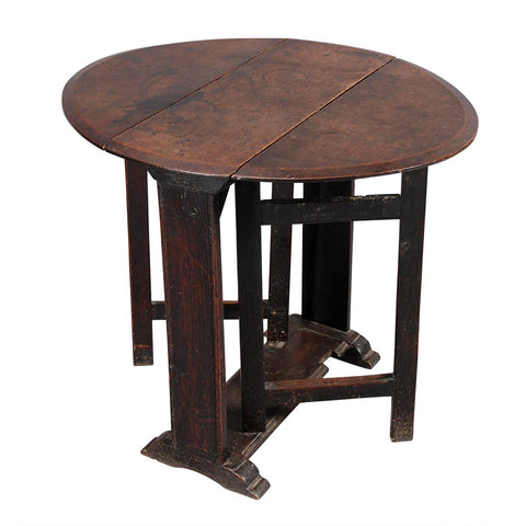 Small Sledge-Foot Gate-Leg Table