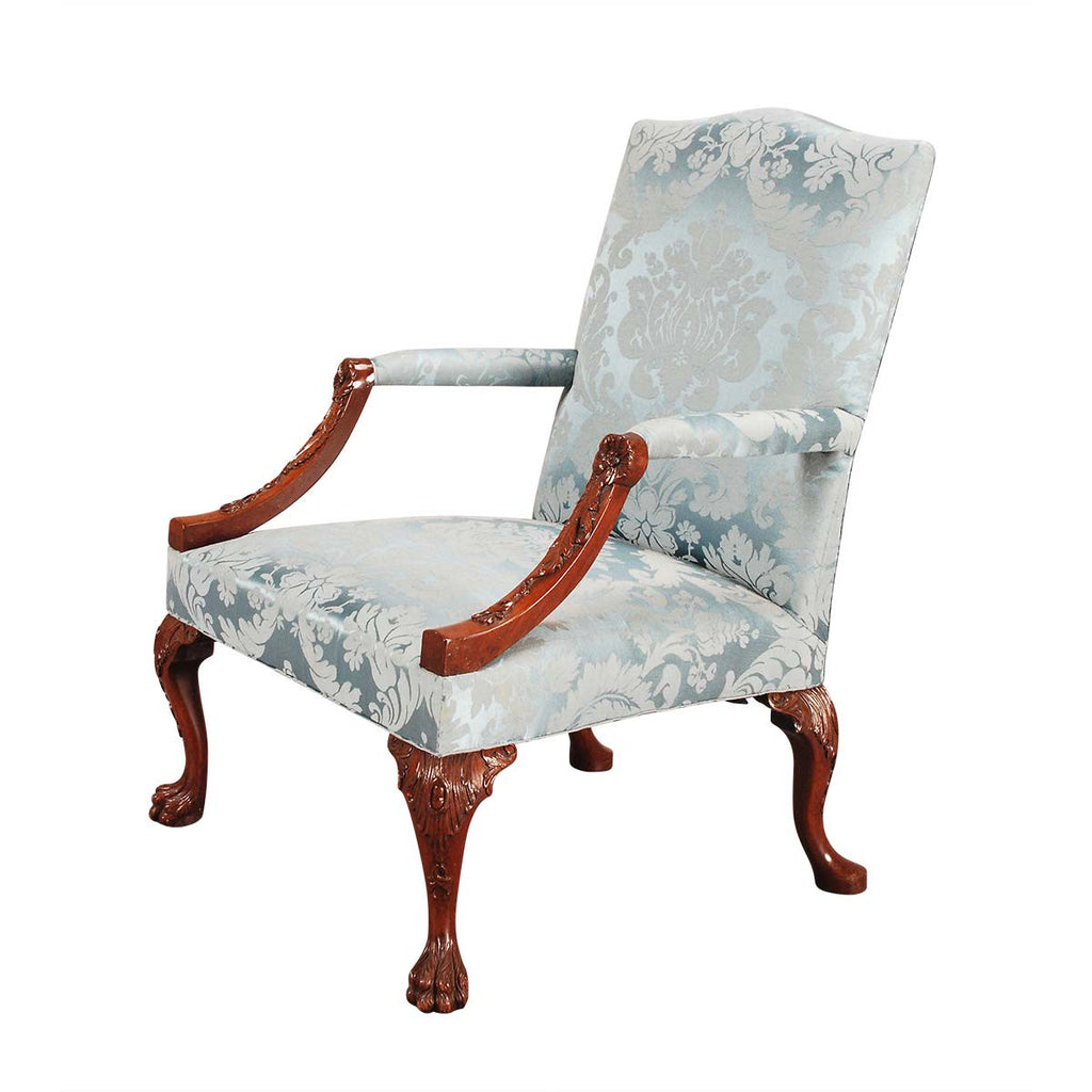 Mahogany Gainsboro Chair on Four Carved Cabriole Legs