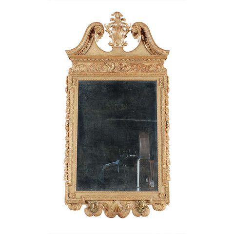 Large Chippendale Period Gilded Mirror
