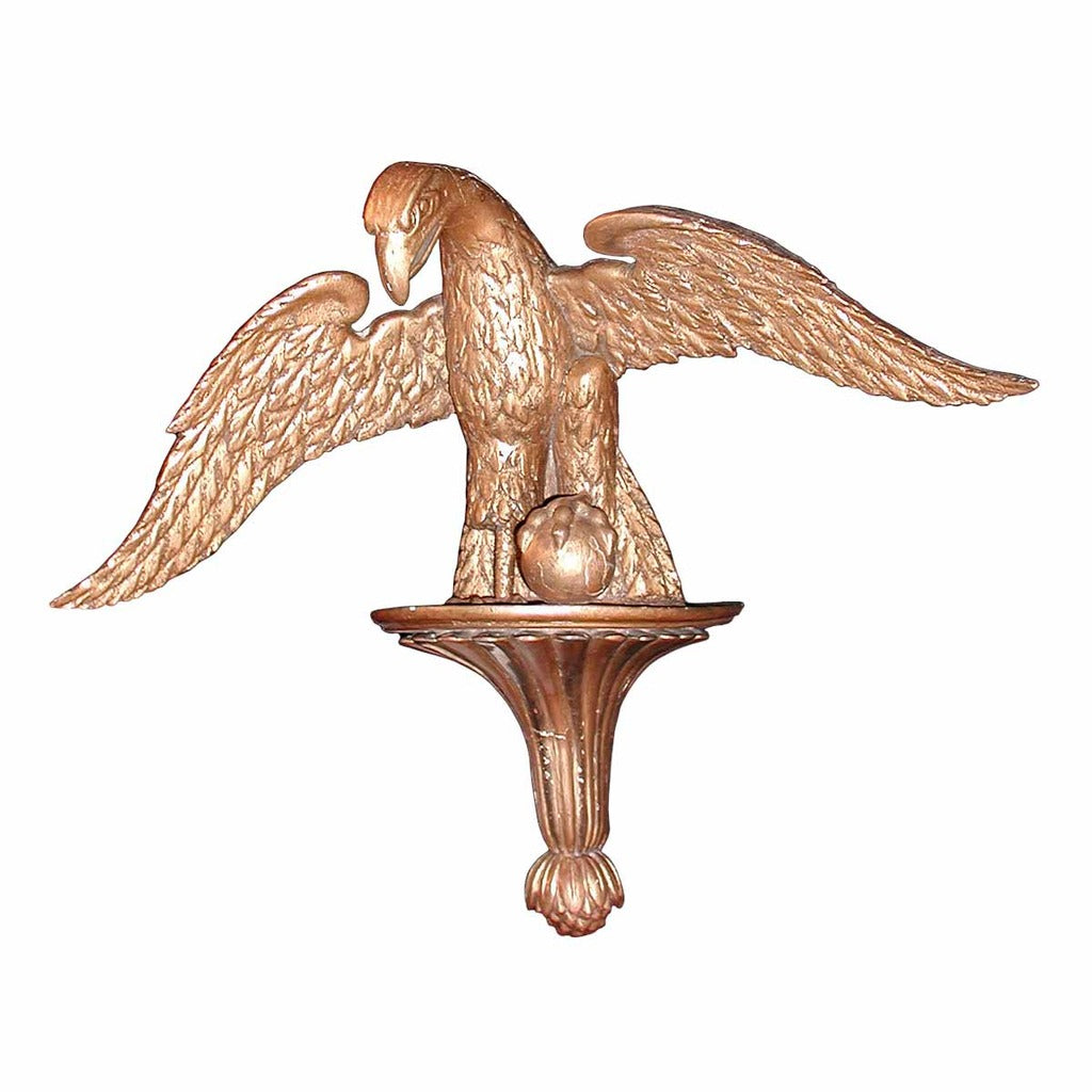 A 19th century carved wood gilded bracket depicting an eagle. view 1