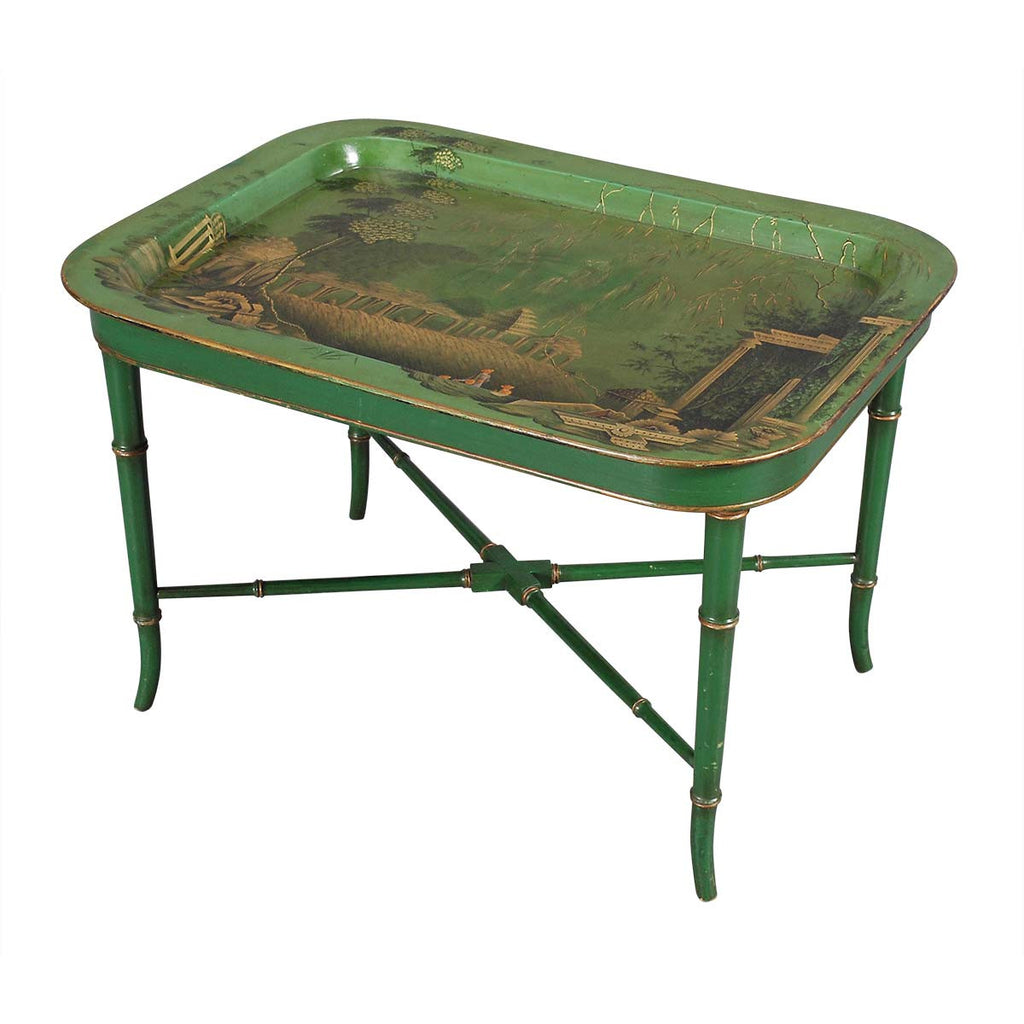 Green Chinoiserie Tray Table
