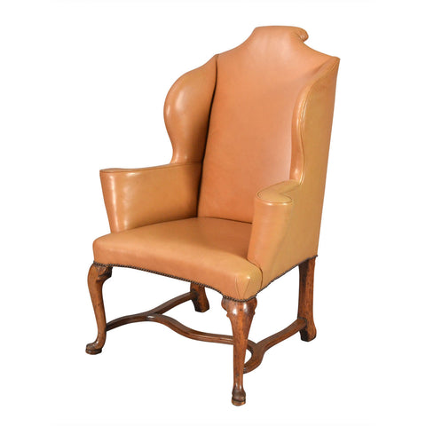 Italian Wing Chair on Cabriole Legs