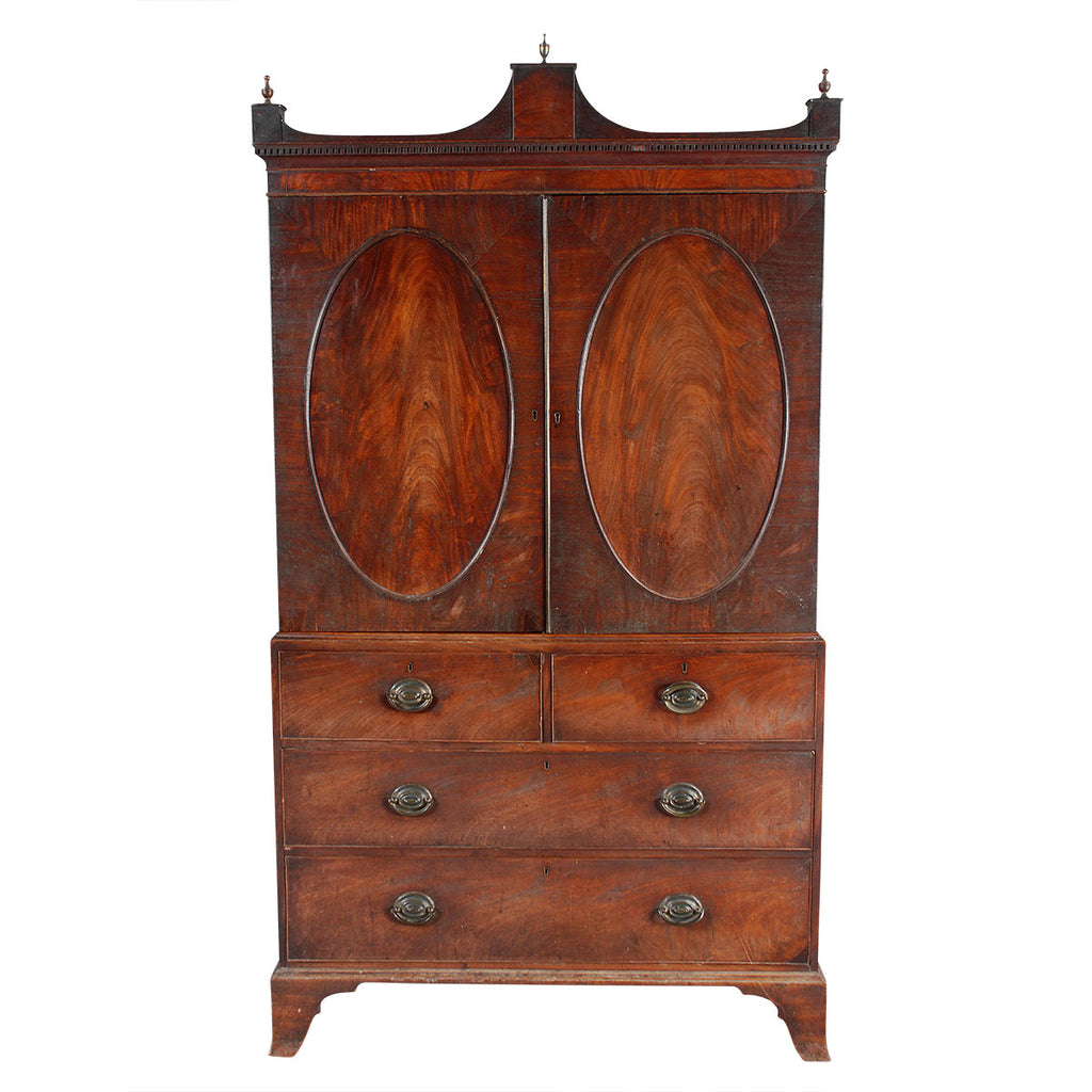 Linen Press with Architectural Cornice
