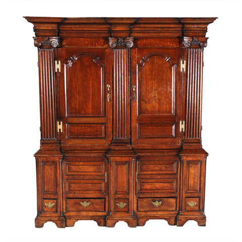 Oak Livery Cupboard of Architectural Form