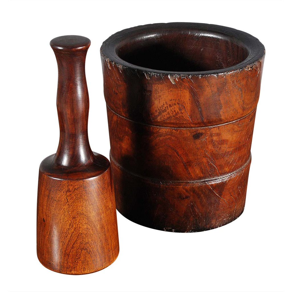 Substantial Lignum Mortar and Pestle