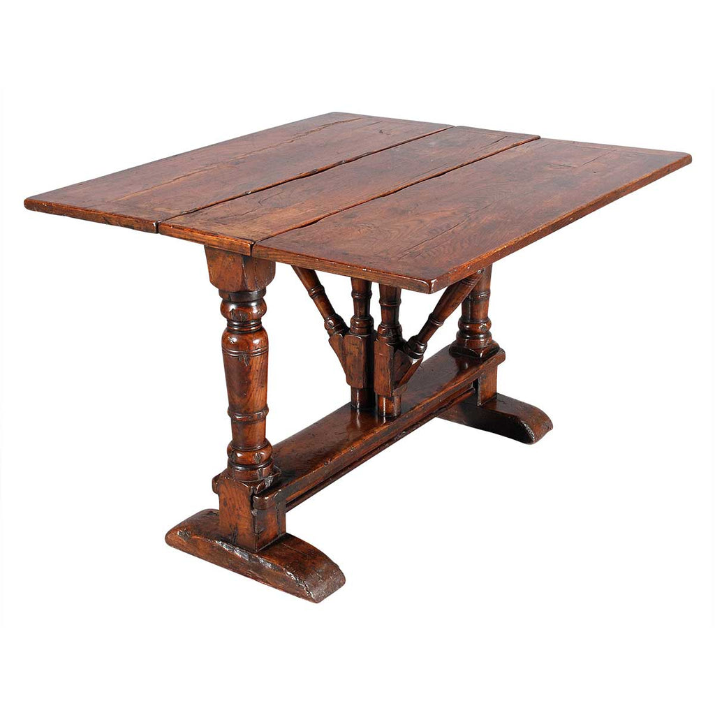 Gate-Leg Table on Baluster Legs and Sledge Feet