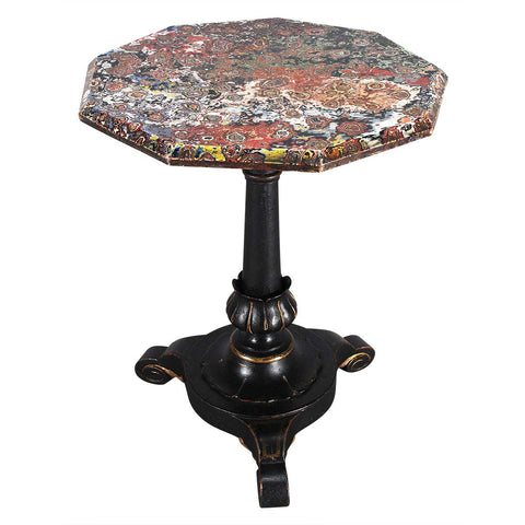 Nine-Sided Table with Painted Top