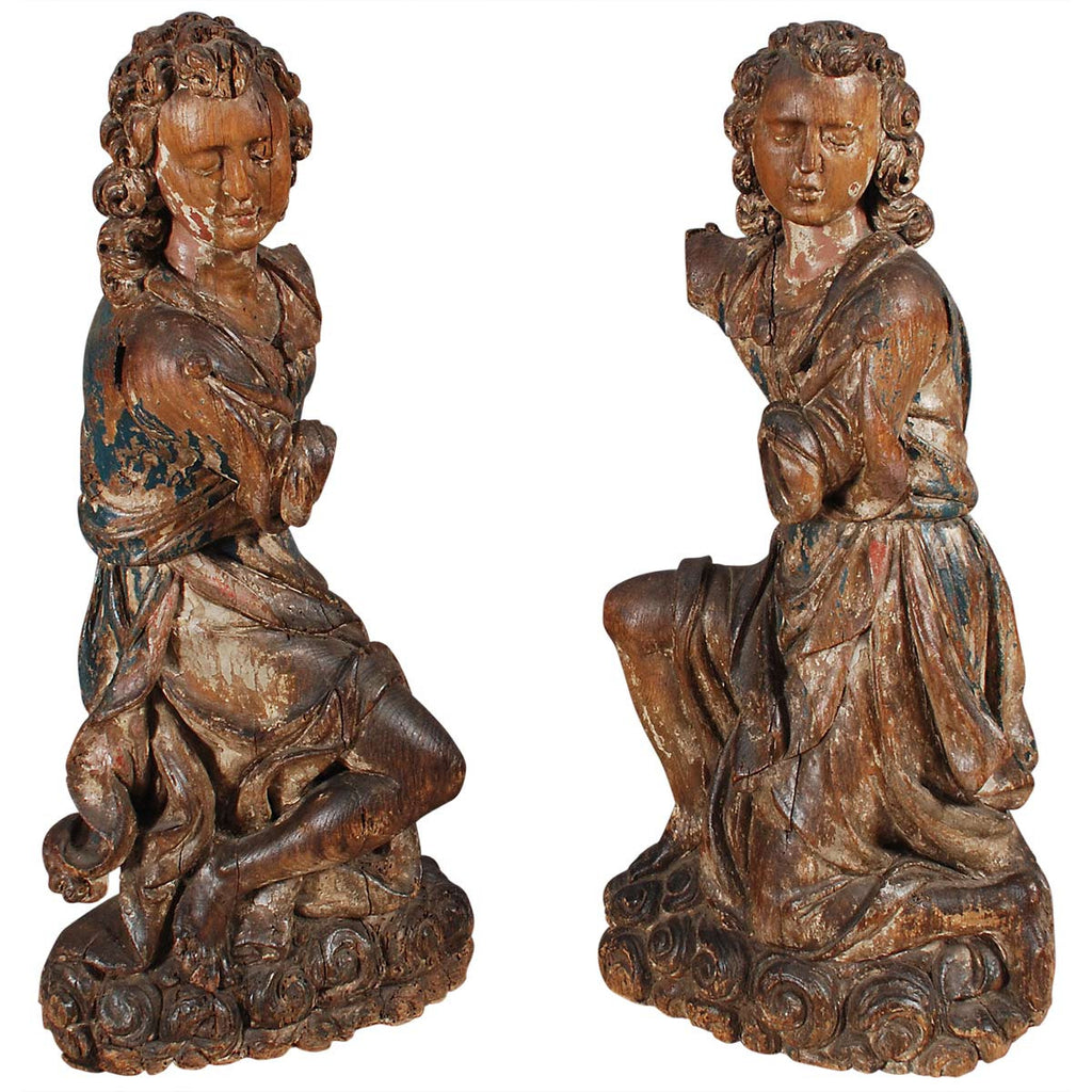 Pair of Large Flemish Angels
