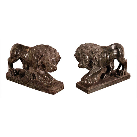 Pair of Serpentine Lions